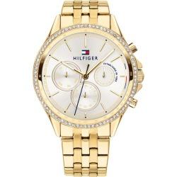Tommy Hilfiger Ladies' Gold IP Bracelet Watch found on Bargain Bro UK from H Samuel