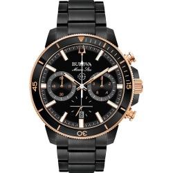 Bulova Men's Marine Star Black Ion Plated Bracelet Watch found on Bargain Bro UK from H Samuel
