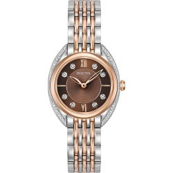 Bulova Ladies' Diamonds Two Colour Steel Bracelet Watch found on MODAPINS from H Samuel for USD $499.73