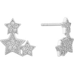 Silver Cubic Zirconia Trio Star Stud Earrings found on Bargain Bro UK from Ernest Jones UK