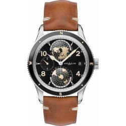 Montblanc 1858 Geosphere Men's Brown Leather Strap Watch found on MODAPINS from Ernest Jones UK for USD $5763.77
