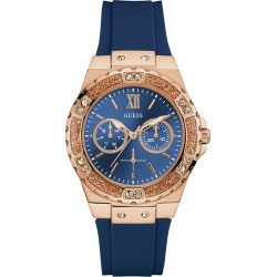 Guess Ladies' Blue Silicone Strap Watch found on Bargain Bro UK from H Samuel