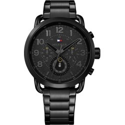 Tommy Hilfiger Men's Black IP Bracelet Watch found on Bargain Bro UK from H Samuel