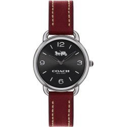Coach Delancey Ladies' Ion Plated Red Strap Watch found on Bargain Bro UK from Ernest Jones UK