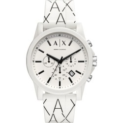 Armani Exchange Men's White Silicone Strap Watch found on Bargain Bro UK from H Samuel