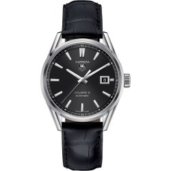 TAG Heuer Carrera Calibre 5 Men's Black Leather Strap Watch found on MODAPINS from Ernest Jones UK for USD $2569.17