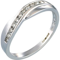 Bride's 18ct White Gold Diamond Wedding Ring found on MODAPINS from H Samuel for USD $875.47