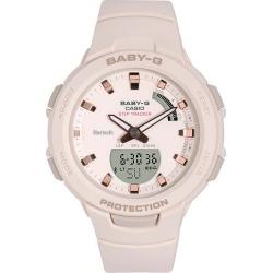 Casio Baby-G Ladies' Steptracker Pink Resin Strap Smartwatch found on Bargain Bro from H Samuel for £101