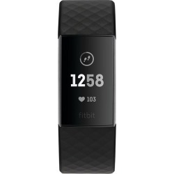 Fitbit Charge 3 Black Strap Fitness Tracker found on Bargain Bro UK from H Samuel