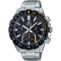 Casio Edifice Countdown Men's Stainless Steel Bracelet Watch found on Bargain Bro UK from H Samuel