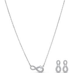Swarovski Rhodium Plated Crystal Infinity Jewellery Gift Set found on Bargain Bro UK from Ernest Jones UK