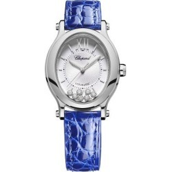 Chopard Happy Sport Ladies' Blue Leather Strap Watch found on MODAPINS from Ernest Jones UK for USD $8994.82