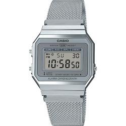 Casio Vintage Stainless Steel Mesh Bracelet Watch