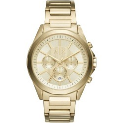 Armani Exchange Gold Tone Dial Gold-Plated Bracelet Watch found on Bargain Bro UK from H Samuel