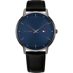 Tommy Hilfiger Men's Black Leather Strap Watch found on Bargain Bro UK from H Samuel