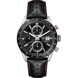 TAG Heuer Carrera Men's Black Leather Strap Watch found on MODAPINS from Ernest Jones UK for USD $4447.50