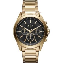 Armani Exchange Men's Gold Plated Steel Bracelet Watch found on Bargain Bro UK from H Samuel