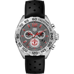 TAG Heuer Formula 1 Men's Mufc Black Rubber Strap Watch found on MODAPINS from Ernest Jones UK for USD $1588.10