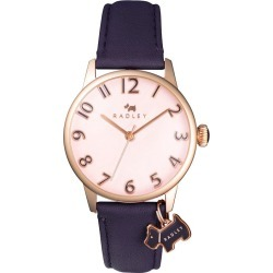 Radley Ladies' Purple Leather Strap Watch found on Bargain Bro UK from H Samuel