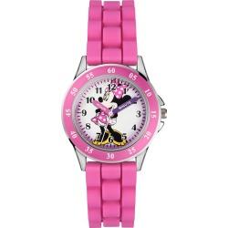 Children's Minnie Time Teacher Pink Silicone Strap Watch found on Bargain Bro UK from H Samuel