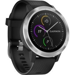 Garmin Vivoactive 3 Black Silicone Strap Smartwatch found on Bargain Bro UK from H Samuel