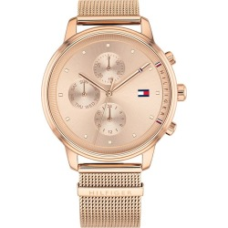 Tommy Hilfiger Ladies' Rose Gold Plated Mesh Bracelet Watch found on Bargain Bro UK from H Samuel