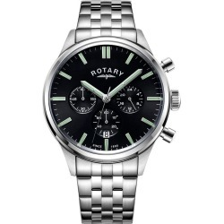 Rotary Men's Stainless Steel Bracelet Chronograph Watch found on Bargain Bro from H Samuel for £251