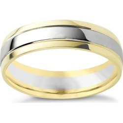 9ct two-colour gold wedding ring found on MODAPINS from Ernest Jones UK for USD $634.09