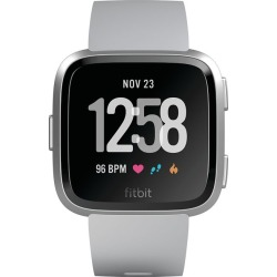 Fitbit Versa Gray/Silver Strap Smart Watch found on Bargain Bro UK from H Samuel