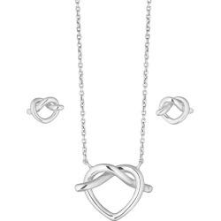 Sterling Silver Heart Knot Earring & Pendant Gift Set found on Bargain Bro UK from H Samuel