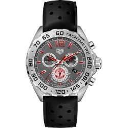 TAG Heuer Formula 1 Men's MUFC Black Rubber Strap Watch found on MODAPINS from Ernest Jones UK for USD $1588.39
