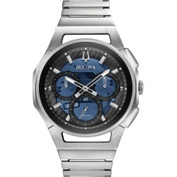 Bulova Men's Curv Stainless Steel Chronograph Watch found on Bargain Bro UK from H Samuel