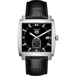 TAG Heuer Monaco Unisex Stainless Steel Black Strap Watch found on MODAPINS from Ernest Jones UK for USD $1779.00