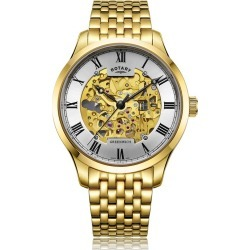 Rotary Greenwich Men's Gold Plated Bracelet Watch found on Bargain Bro UK from H Samuel