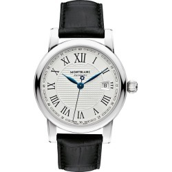 Montblanc Star Roman Men's Black Leather Strap Watch found on MODAPINS from Ernest Jones UK for USD $3175.41