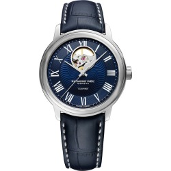 Raymond Weil Maestro Men's Blue Leather Strap Watch