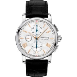 Montblanc 4810 Men's Black Leather Strap Watch found on MODAPINS from Ernest Jones UK for USD $4644.46