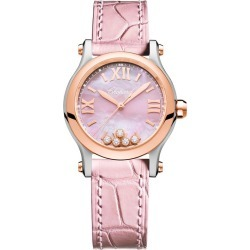 Chopard Happy Sport Ladies' Pink Leather Strap Watch found on MODAPINS from Ernest Jones UK for USD $8670.18
