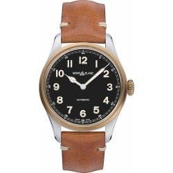 Montblanc 1858 Men's Brown Leather Strap Watch found on MODAPINS from Ernest Jones UK for USD $2980.99