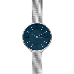 Skagen Ladies' Karolina Blue Dial Bracelet Watch found on Bargain Bro UK from Ernest Jones UK