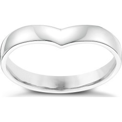 Ladies' Palladium Shaped Wide Wedding Ring found on MODAPINS from H Samuel for USD $437.11