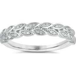 9ct White Gold Diamond Leaf Wedding Ring found on MODAPINS from Ernest Jones UK for USD $352.53