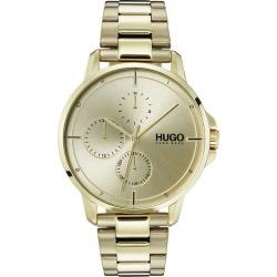 HUGO FOCUS Men's Gold IP Stainless Steel Bracelet Watch found on Bargain Bro UK from H Samuel