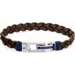 Tommy Hilfiger Men's Brown Leather Braided Bracelet found on Bargain Bro UK from Ernest Jones UK