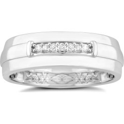 9ct White Gold Diamond Men's Wedding Ring found on MODAPINS from H Samuel for USD $624.98