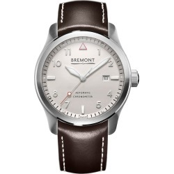 Bremont SOLO/WH-SI Men's Stainless Steel Leather Strap Watch found on MODAPINS from Ernest Jones UK for USD $3644.51