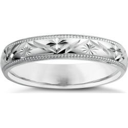 9ct White Gold Ladies' Patterned Wedding Ring found on MODAPINS from H Samuel for USD $249.24