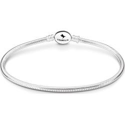 Chamilia Sterling Silver Oval Snap Bracelet 7.5 Inch found on Bargain Bro UK from Ernest Jones UK