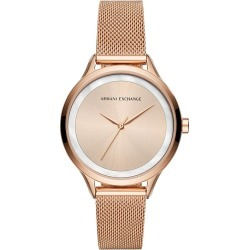 Armani Exchange Ladies' Rose Gold Tone Bracelet Watch found on Bargain Bro UK from H Samuel