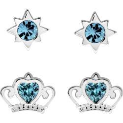 Disney Children's Cinderella Silver & Crystal Earring Set found on Bargain Bro UK from H Samuel